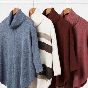 低至4折+满$100立减$10+免邮LOFT Outlet 精选女装特卖 温暖格纹围巾$16