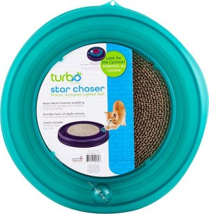 Bergan Star Chaser Turbo Scratcher Cat Toy, Color Varies - Chewy.com