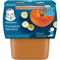 Gerber 2阶段果蔬泥,南瓜+橡胶泥8盒