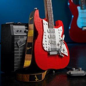 £89.99 10月1日上市新品预告:LEGO官网 Ideas系列 芬德 Stratocaster 电吉他 21329