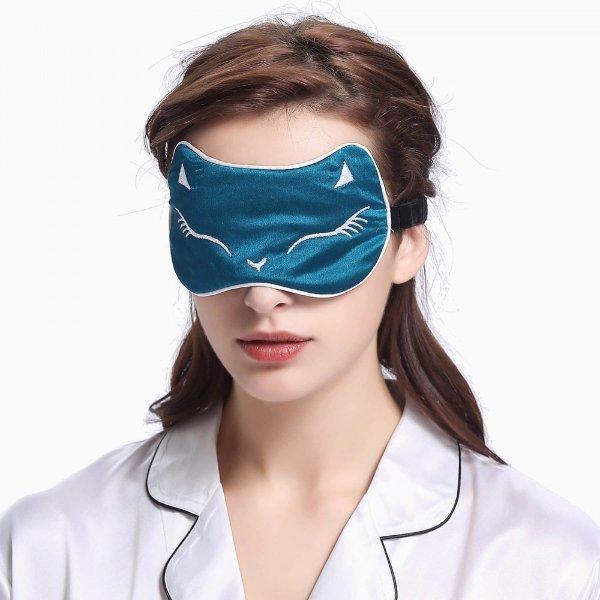 猫咪真丝眼罩