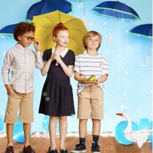 包邮 大牌替代款童鞋$61.6Brooks Brothers 儿童服饰全场7折,特价区和清仓区低至3.5折