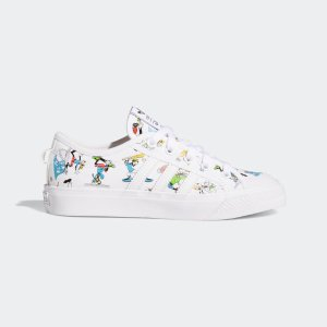 Adidas小码妹纸可Nizza x Disney 满印大童鞋