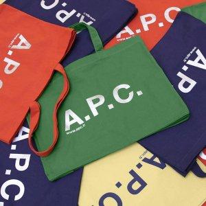 低至6折 €59收logoT恤A.P.C. 法式简约风品牌热卖 收经典半月包、logo服饰