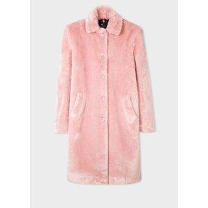 Paul SmithWomen's Light Pink Faux Fur Coat