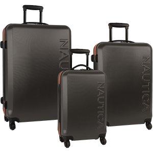 $160.23Nautica 硬壳型万向轮 拉杆行李箱三件套