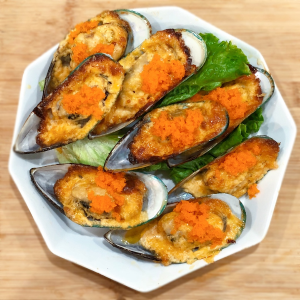 Oven Bake Seafood RecipeWestern Baked Mussel with Mayonaise