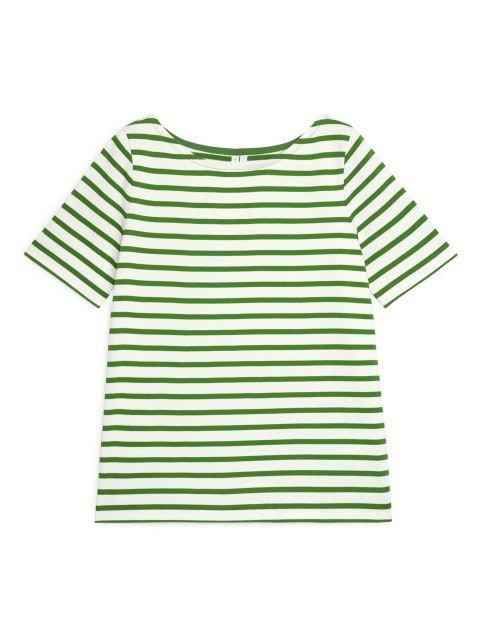 绿色条纹短袖