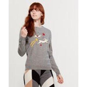 Cashmere-Blend Magic Bunny Sweater