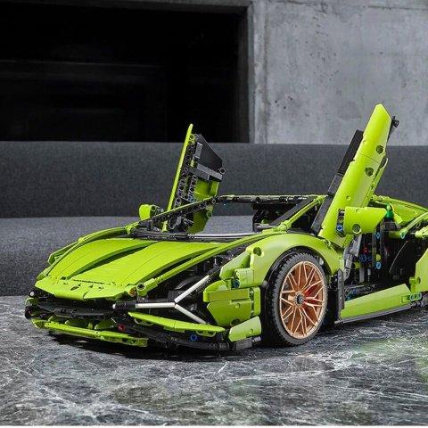 $569.99 官网现货LEGO 兰博基尼 Sián FKP 37 超级跑车 42115