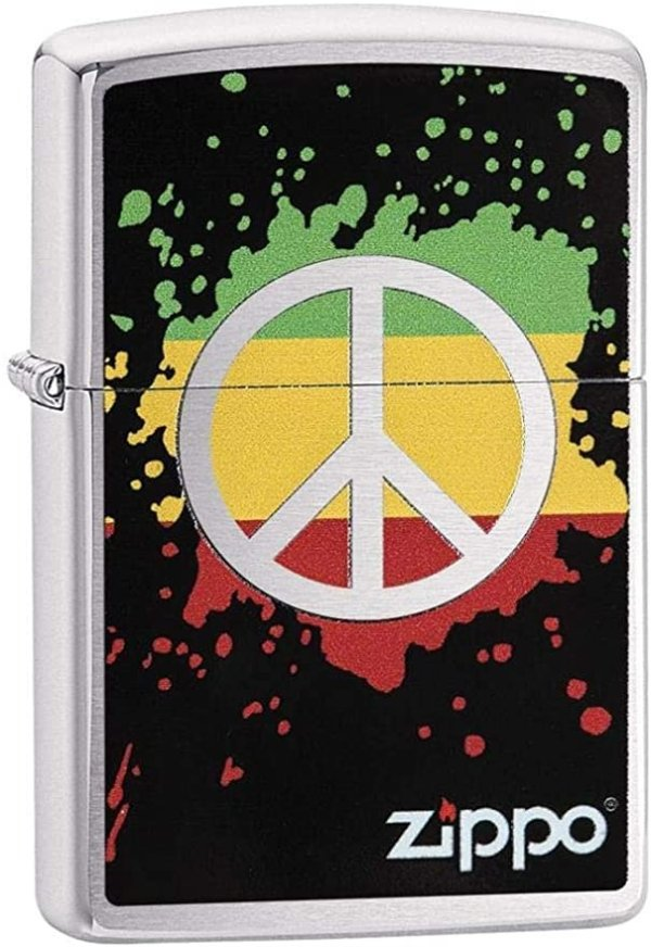 Adult-Unisex 29606 Peace Sign Windproof Lighter