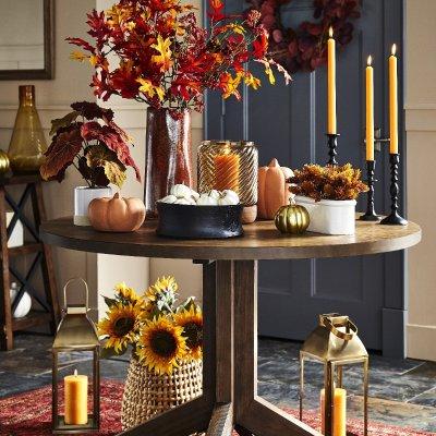 Home Fall Decorating Ideas 2840: Target 精选万圣节装饰南瓜促销 金秋收获美好 买2件送1件