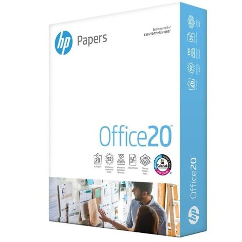 HP Printer Paper 8.5x11 Office 20 lb 1 Ream 500 Sheets 92 Bright