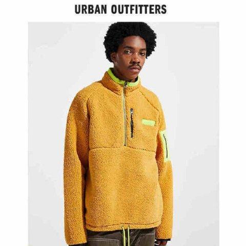 额外7折 羽绒服$84收Urban Outfitters 精选男士夹克 法兰绒外套限时促销
