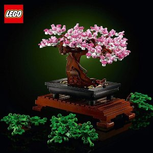 仅€46.28收 手慢无!LEGO 10281 超人气植物盆景 可变换樱花粉树叶 应景四月春