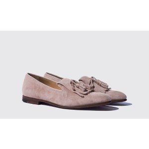 Women's Taupe Loafers - Stella | Scarosso