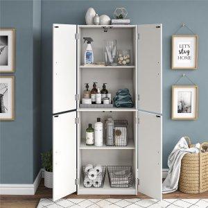 Mainstays 多层带门储物柜,3色可选