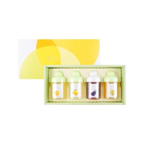 四种口味蜂蜜盒子 柚子 柠檬 葡萄 苹果 4枚入 4*300g