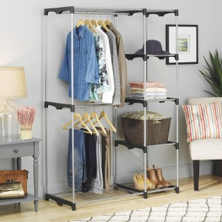 $29.49Whitmor Double Rod Freestanding Closet with Steel and Resin Frame