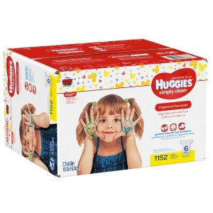 $16.97 (原价$24.98)Huggies 无香型婴儿湿巾 补充装 1152Count
