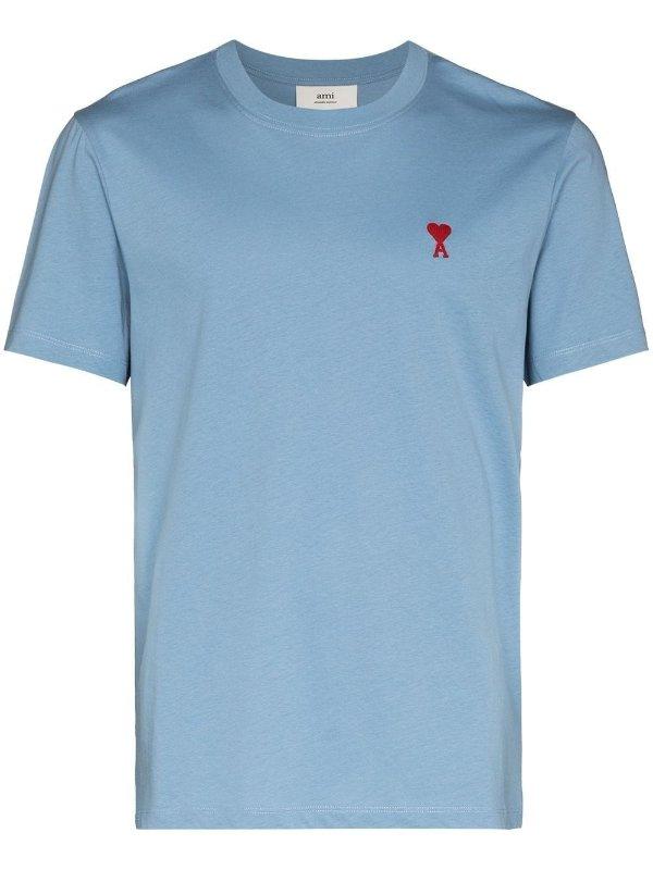 蓝色爱心T恤