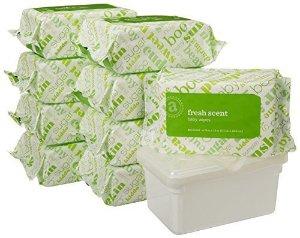$11.39(原价$17.49) + 包邮 美亚销量冠军折扣升级:Amazon Elements 婴儿湿巾,清新香味,480片