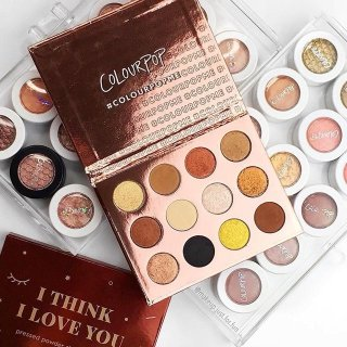 好价¥145ColourPop 12色眼影盘 I Think I Love You 焦糖暖棕