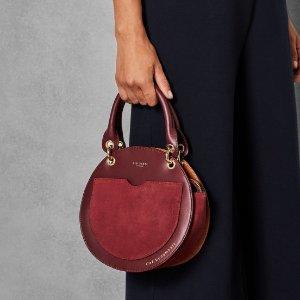 Leather circular bag - Dark Red | Bags | Ted Baker