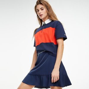 TommyColorblock Zip Polo | Tommy Hilfiger