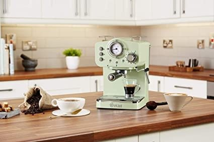 Swan SK22110GN, 咖啡机 15 Bars of Pressure, Green
