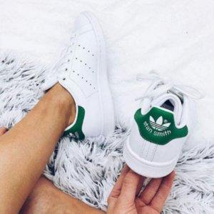 低至7折 $46起Adidas Stan Smith 绿尾小白鞋特卖