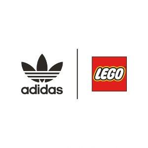 短袖$35起、喝水壶$15Adidas X LEGO 喜欢玩的穿上身 乐趣无限 拼色拖鞋$38