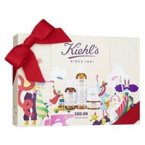 Kiehl's满$80立减$20金盏花套装(价值$70)