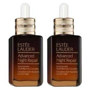 Estee Lauder价值$210 变相7.3折小棕瓶套装 价值$210