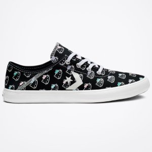 $29.97(原价$50.00)Converse x Hello Kitty 合作款低帮帆布鞋
