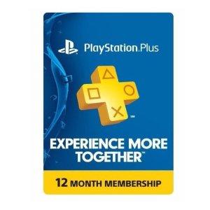 $38.99(原价$59.99)PS Plus 会员 一年份 实体卡