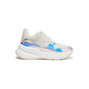 Alexander McQueenSmooth and iridescent leather exaggerated-sole sneakers