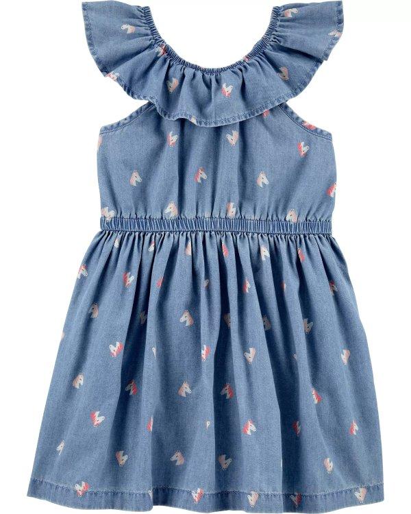 小童独角兽连衣裙