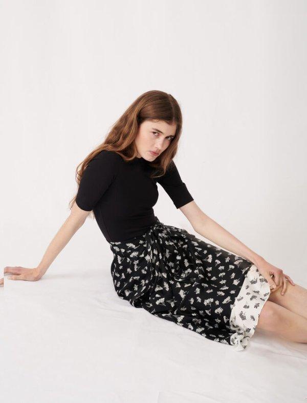 拼接连衣裙