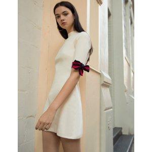 Pixie MarketAime 蝴蝶结针织连身裙