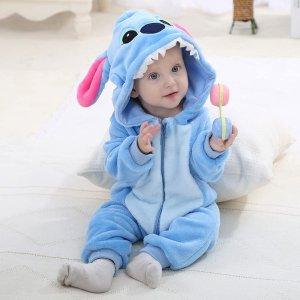 3件直邮含税到手价$55可爱宝宝连体衣 舒适纯棉透气 多花色动漫人物造型可选