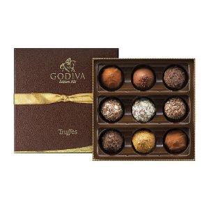 Godiva松露巧克力礼盒(9粒)