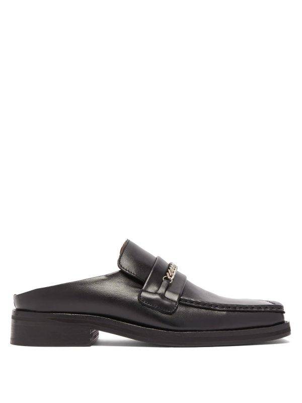 方头链条乐福鞋