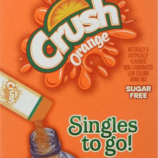 $9.41 + Free ShippingCrush Singles To Go Powder Packets,Orange, 6 Count per box, Pack of 12