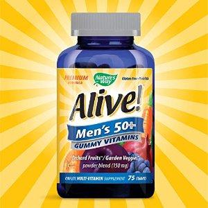 $8.39Nature's Way Alive! 50岁以上男士综合维生素软糖 75粒