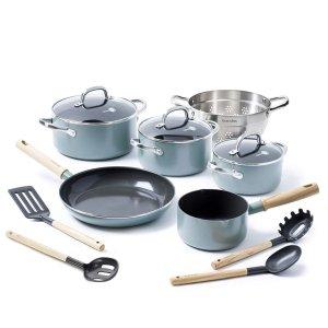 低至76折 收天空蓝的小锅锅GreenPan 精选厨具热促 谁的厨具更清新
