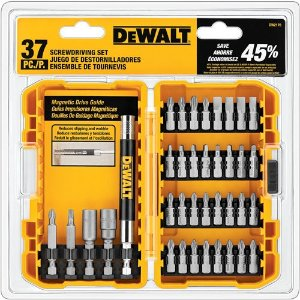 $12DEWALT DW2176 37-Piece Screwdriving Set