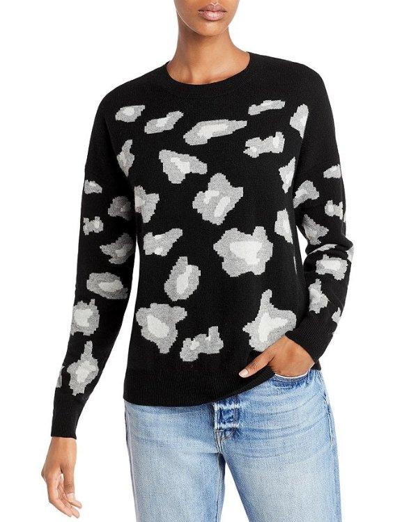 Animal Print 羊绒毛衣