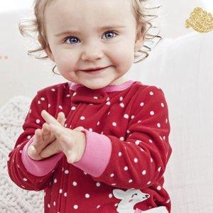 低至2.4折 海量款式选折扣升级:Carter's童装官网 有爱又喜庆,红装迎新年