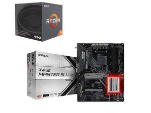 $294AMD RYZEN 5 2600 6C12T + ASRock X470 Master SLI/AC MB